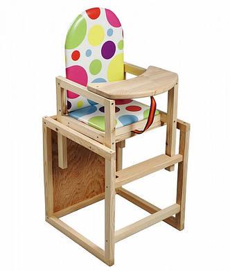 Деревянный стульчик для кормления, фото 2