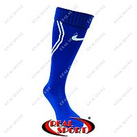 Гетры футбольные Nike FB020147 (х-б, верх-нейлон, р-р 40-45, синий)