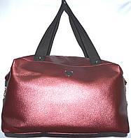 Универсальная сумка из кожзама 38*24 (бордо)
