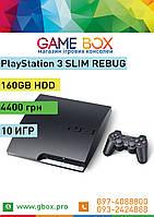 PlayStation 3 Slim 160GB REBUG ПРОШИТА + 12 Игр PS3