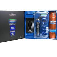 Набор Gillette Fusion ProGlide Styler Бритва с 3 насадками и гелем для бритья.