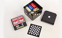 Набор настольных игр GAME CUBE 6 in 1 покер, карты, домино, шахматы, нарды, кости (341-166), фото 1