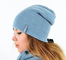 Стильный двухсторонний набор из шапки и хомута