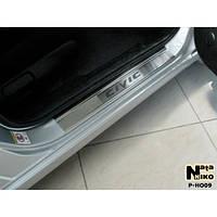 NataNiko Накладки на пороги для HONDA Civic VIII '06-11 4d (Комплект 4 шт.)