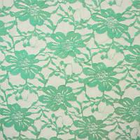 Гипюр ткань - цвет мятный
