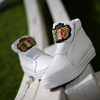 Кроссовки кожаные белые Y.S.