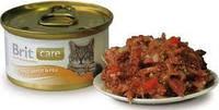 Brit Care Cat 80g *24шт - консерва для кошек и котят+Бесплатная доставка!