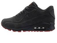 Зимние мужские кроссовки Nike Air Max 90 VT Tweed Grey Red Winter
