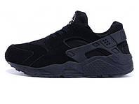 "Зимние мужские кроссовки Nike Air Huarache All Black ""Winter Edition """