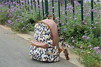Женский стильный повседневный рюкзак с цветами