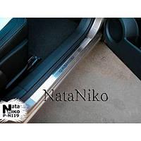 NataNiko Накладки на пороги для NISSAN Qashqai +2/Dualis +2 I '08-13 (Комплект 4 шт.)