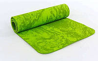 Коврик для фитнеса и йоги (Yoga mat) PER NEW Green