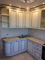 Встроенная кухня из массива ясеня 2