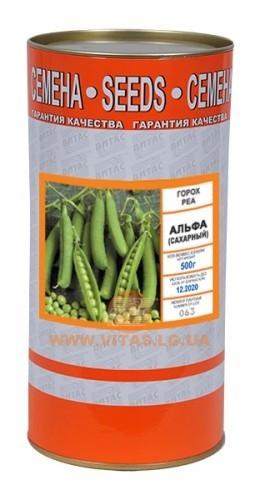 Семена гороха Альфа500 г, ТМ Витас