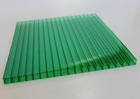 Сотовый поликарбонат Sunnex 2,1* 6 м 4 мм Зеленый