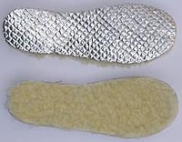 Стелька фольга с набивным белым мехом размерная 35-46р