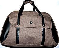 Женская дорожная сумка из текстиля 52*34 (коричневый)