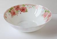 Тарелка стеклокерамика гл. №7 роза и бабочка 6752