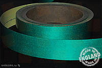 Светоотражающая сигнальная лента Heskins самоклеющаяся Зелёный (H6601G), 25 мм.