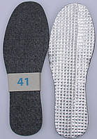 Стелька фетр на фольге размерная 35-46р