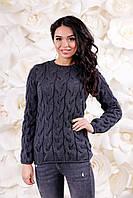 Женский вязаный свитер универсальный размер 42-48!!Свитер, кофта зима