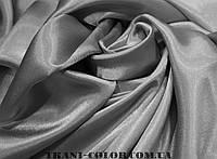 Ткань креп- сатин серый