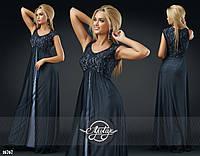 Длинное Платье Сетка в расцветках (DG-с433)