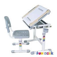 Комплект парта для рисования и стул Bambino Grey