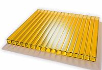 Сотовый поликарбонат Sunnex 2,1* 6 м 6 мм Желтый, фото 1