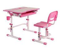 Комплект парта-трансформер и стул Lavoro Pink