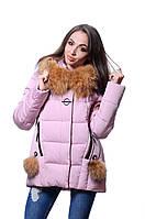 Куртка женская зима JARIUS  17-128 Пудра