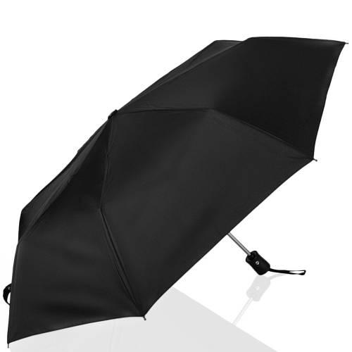 Надежный мужской автоматический зонт, антиветер ТРИ СЛОНА RE-E-795, цвет черный.