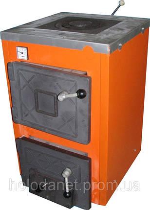 Котел твердотопливный Термобар АКТВ-12 (плита, 1 комфорка) длительного горения, фото 2