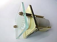 Встраиваемый светильник Feron 3781 R39 E14 40W квадрат золото, фото 1