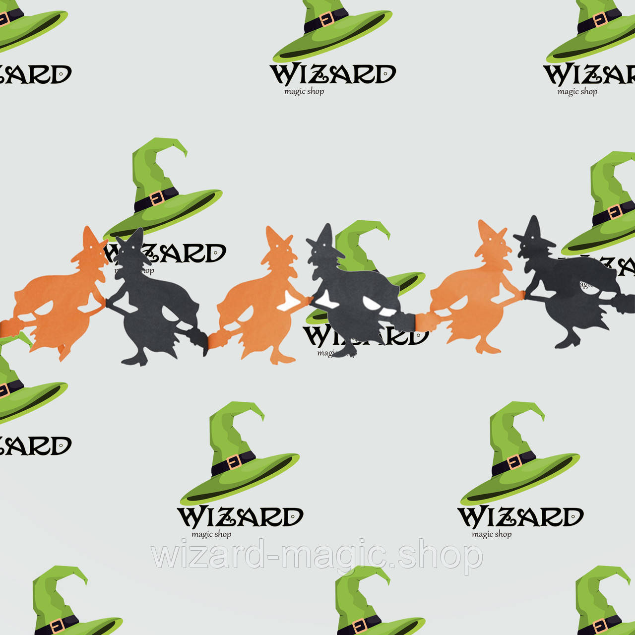 Гирлянда 3D Хэллоуин Ведьма