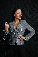 """Женский модный твидовый пиджак """"Шанель"""" (2 цвета)"""