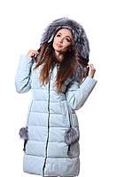Куртка женская зима   PEERCAT P17-783 Голубой