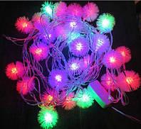 Новогодняя светодиодная гирлянда 40P T5 многоцветная, Пушистик