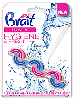 Туалетный блок Brait Flowers Hygiene&fresh 45гр