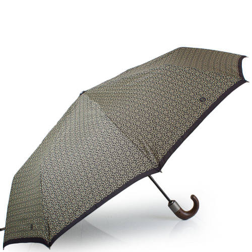 Удобный, надежный мужской автоматический зонт, антиветер  ZEST Z43942-14, цвет серый.