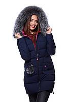 Куртка женская зимняя Meajiateer M17-61 Т.СИНИЙ