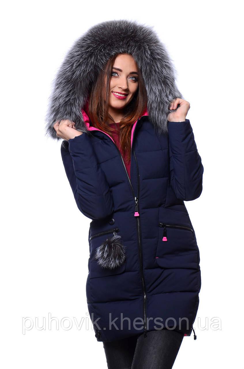 b187d75f1a1 Куртка женская зимняя Meajiateer M17-61 Т.СИНИЙ  продажа