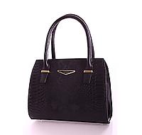 L-S Сумка классическая женская черная анаконда стильная