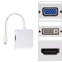 Переходник-адаптер (Thunderbolt) HDMI/VGA/DVI для MacBook