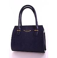L-S Сумка стильная классическая синяя анаконда женская
