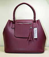 Стильная сумка из экокожи бордового цвета. новинка. ремень через плече