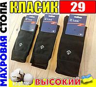 Носки мужские махровая стопа Класик  Украина 29р  чёрные НМЗ-04228