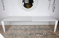 Современныйобеденный раскладной стол Liverpool(Ливерпуль), цвет белый, столешница керамика, длина 3,0 метра