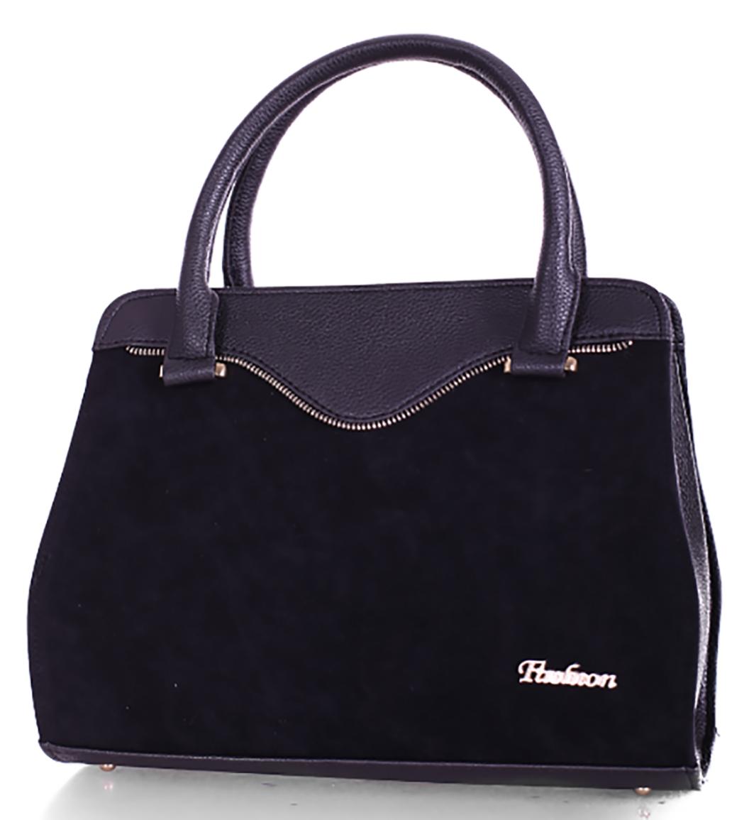 9fe37975a77a L-S Сумка черная мат замш стильная нарядная женская - Женские сумки оптом и  в розницу купить