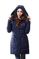 Куртка женская зимняя Meajiateer M17-63 Т.СИНИЙ